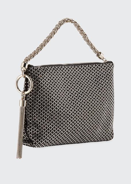 Jimmy Choo Callie Iam Crystal Shoulder Bag