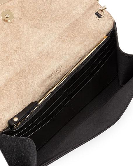 Emmie Fine Glitter Leather Clutch Bag