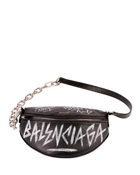 e178a516703c Balenciaga Graffiti-Print Fanny Belt Bag
