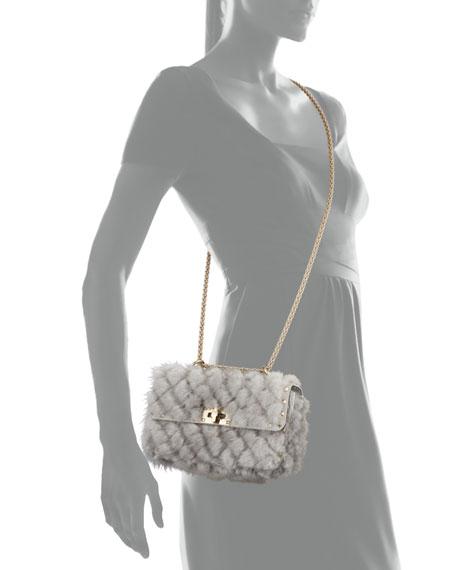 Spike.It Small Embellished Mink Shoulder Bag