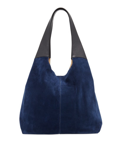 Grand Shopper Tote Bag, Blue/Black