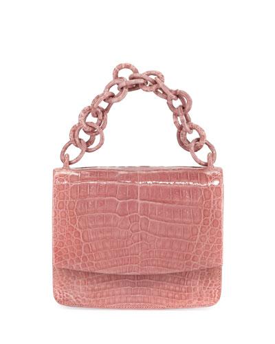 Nicola Crocodile Clutch Bag