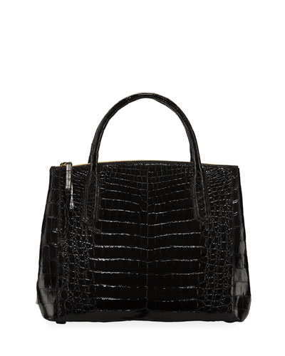 Nix Medium Zip Crocodile Tote Bag