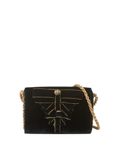 Gabbia Velvet Bow Shoulder Bag