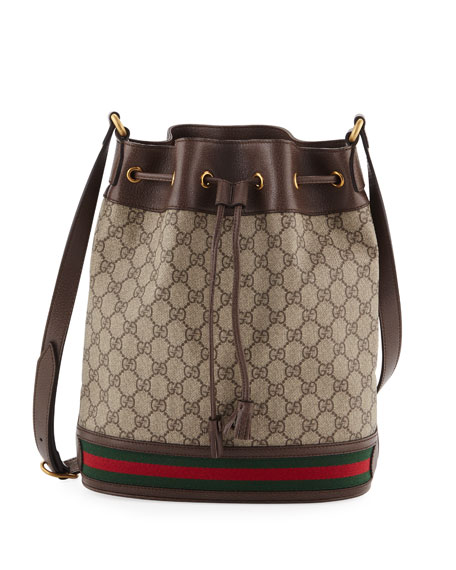 7f935ed20 Gucci Ophidia GG Supreme Canvas Drawstring Bucket Bag