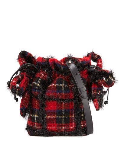 Tartan Bow Pouch Bag