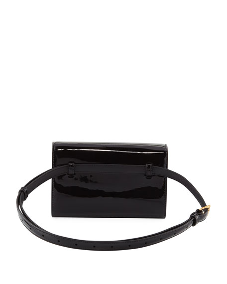 Saint Laurent Kate Monogram YSL Patent Leather Belt Bag a664e3e1cbd34