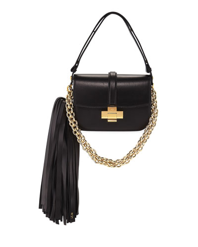 Pompom Chain Shoulder Bag
