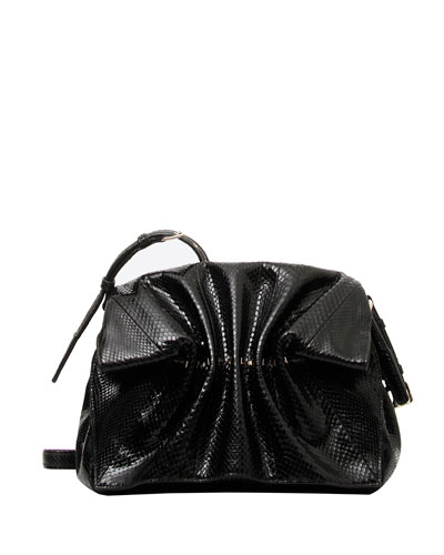 Bloomy Mini Snakeskin-Detail Shoulder Bag