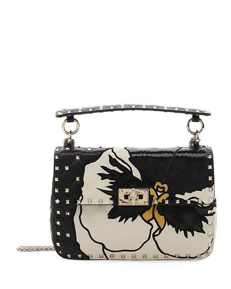 047e181688 Valentino Garavani Spike.It Medium Shoulder Bag with Precious Pansy