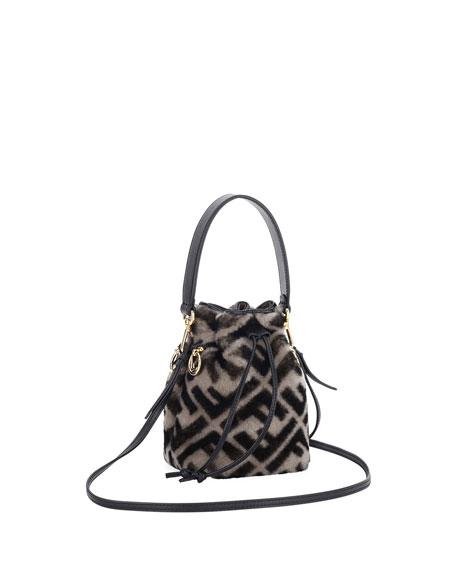 5fec7acc19e2 Fendi Mon Tresor FF Shearling Fur Bucket Bag
