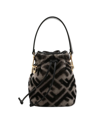Mon Tresor FF Shearling Fur Bucket Bag