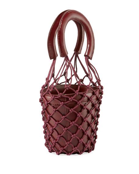 Moreau Mini Net/Leather Bucket Bag
