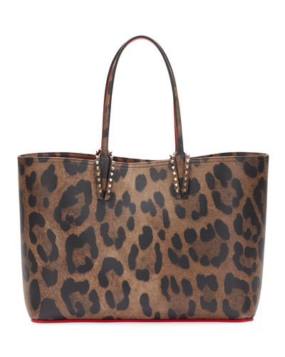 Cabata Empire Leopard-Print Leather Tote Bag