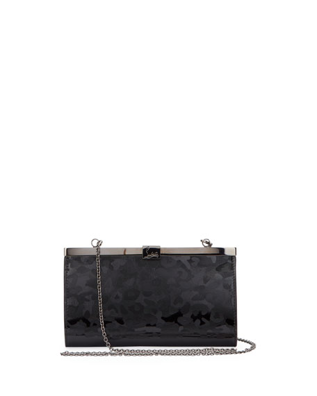 Palmette Small Panthera Clutch Bag