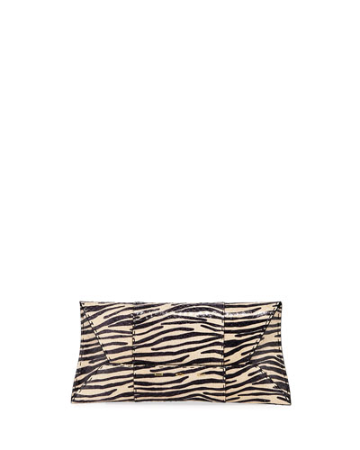 Manila Stretch T Zebra Snake Clutch Bag