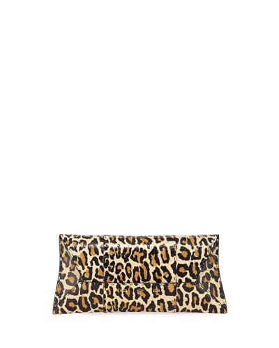 Manila Stretch T Light Leopard Snake Clutch Bag