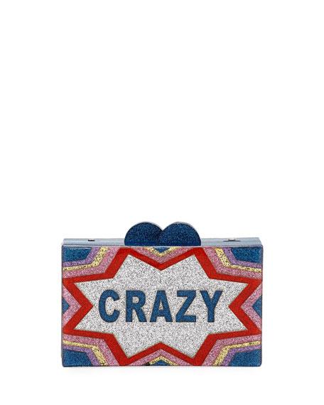 Bari Lynn Girls' Crazy/Cool Glittered Acrylic Box Clutch