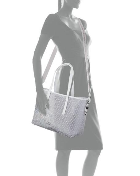 Off-White PVC Net Shopper Tote Bag, White 694ce8fe97