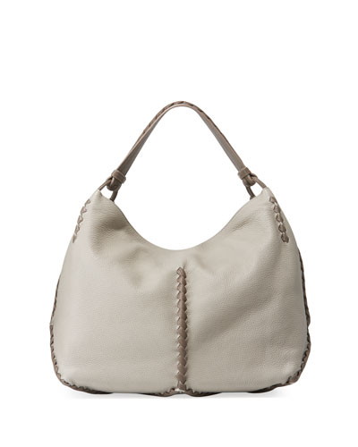 Leather Fringed Hobo Bag