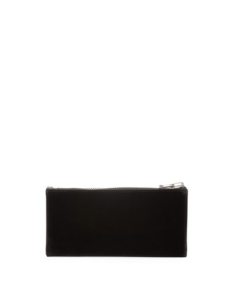 Velvet Clutch Bag with Crystal TF Logo