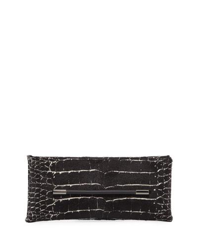 Ava Calf Hair Clutch Bag