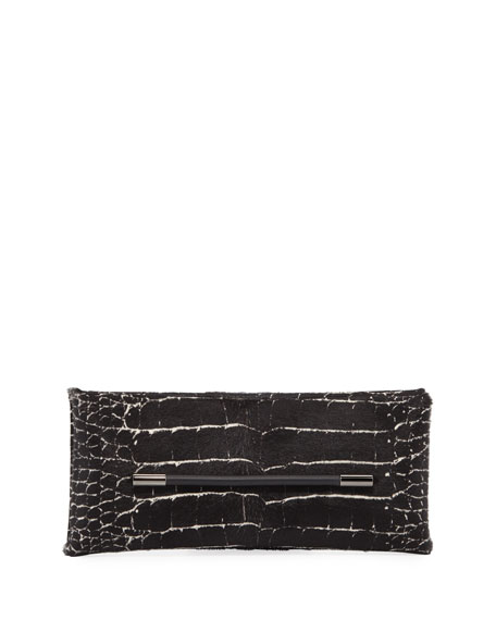 Image 1 of 1: Ava Calf Hair Clutch Bag