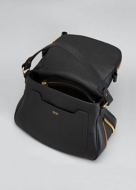 Jennifer Medium Grained Leather Shoulder Bag