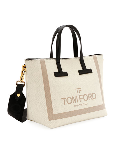 49fccda17a6 Printed Canvas and Leather T Tote Bag