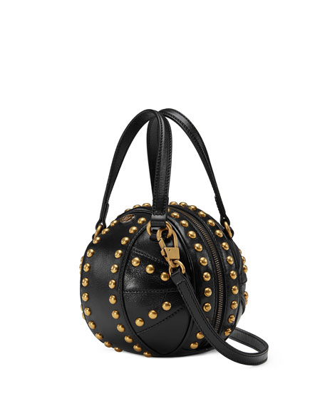 2b0df2ce4d41 Gucci Tifosa Mini Studded Sphere Shoulder Bag