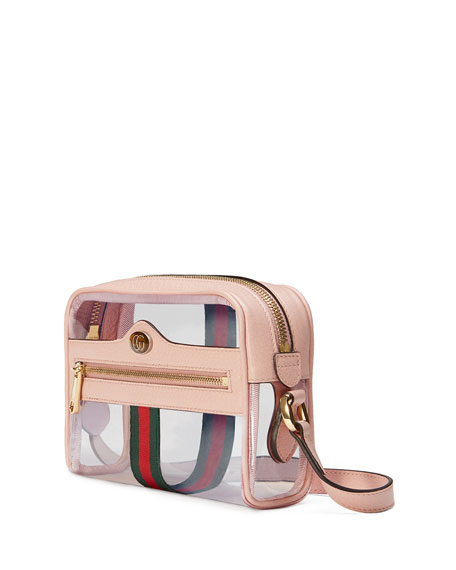 Ophidia Mini See-Through PVC Camera Crossbody Bag