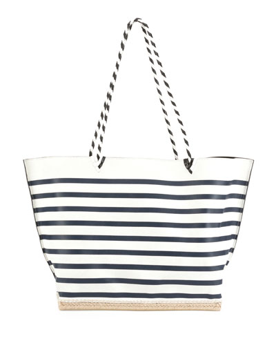 Espadrille Large Striped Tote Bag