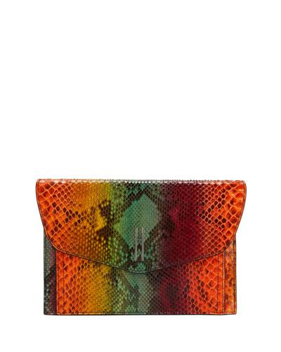 Bobby Python Tie-Dye Clutch Bag