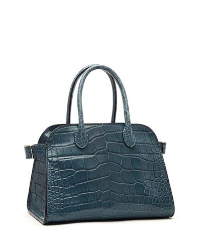 Margaux Alligator Top Handle Bag