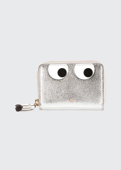Metallic Eyes Zip Wallet