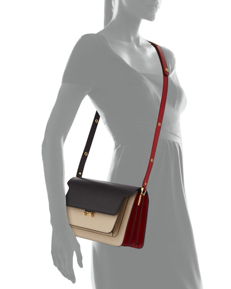 Colorblock Trunk Shoulder Bag