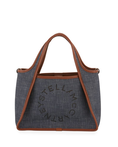 Denim Logo Crossbody Bag