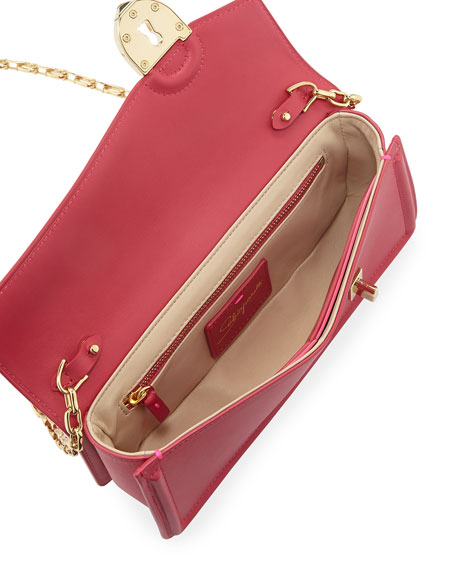 Secret Leather Pochette Clutch Bag