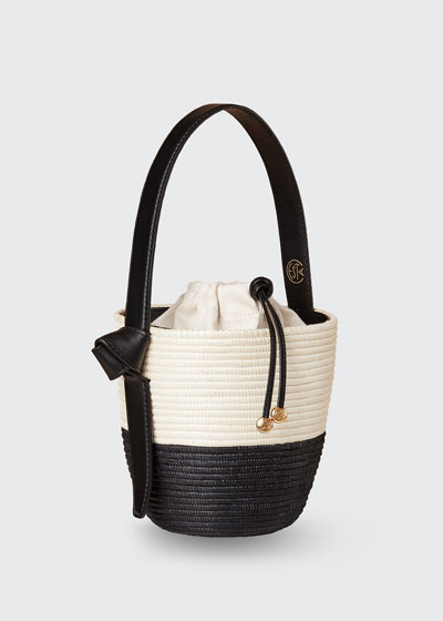 Two-Tone Lunch Pail Bucket Bag