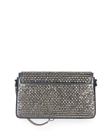 Charm Small Mirror-Crystal Shoulder Bag
