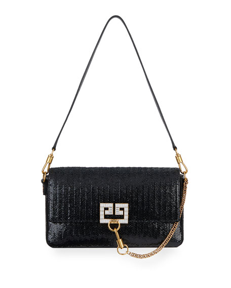 Givenchy Charm Small Laser-Cut Patent Shoulder Bag