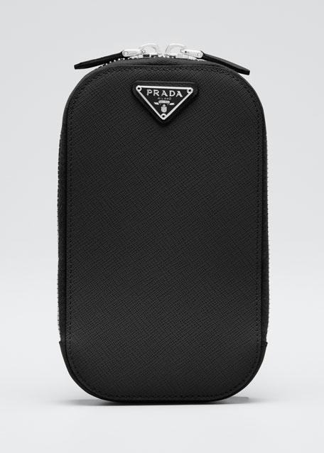 Saffiano Triangle Mini Bag w/ Top Handle