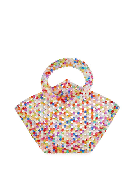 Janie Beaded Tote Bag