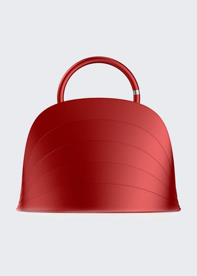 Millefoglie J Layered Top Handle Bag  Red