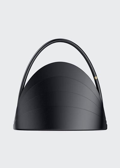 Millefoglie Layered Top Handle Bag  Black