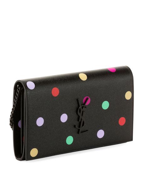 Kate Small Monogram YSL Polka-Dot Wallet on Chain