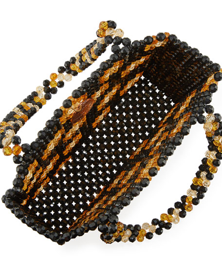 Leopard Acrylic Beaded Tote Bag