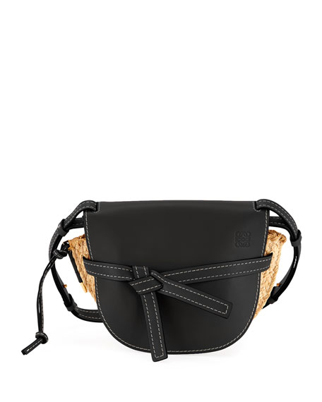 Gate Small Raffia Shoulder Bag by Loewe