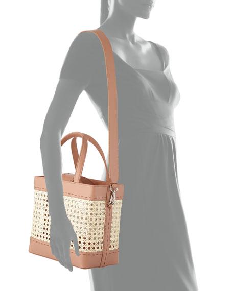 Fey Rattan & Leather Tote Bag