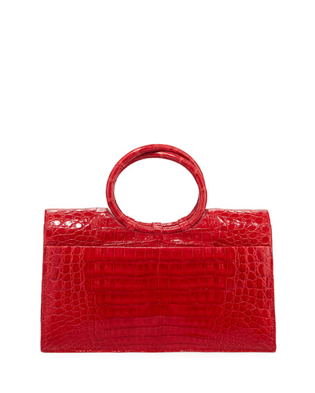 Regina Medium Crocodile Bracelet Bag